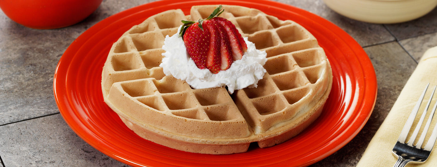 Strawberry Heartland Waffles